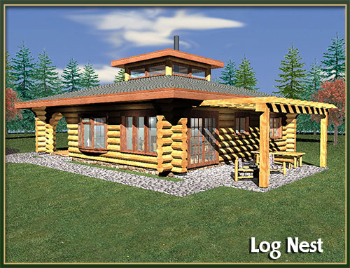 Davidson log homes 500 to 1000 square feet for 1000 sq ft log cabin