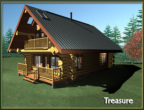 Davidson log homes 500 to 1000 square feet for Log homes under 1000 square feet