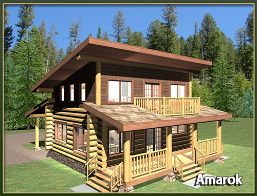 davidson log homes :: 500 to 1000 square feet
