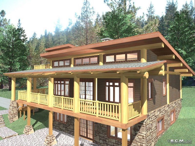 Davidson log homes cascade for Log homes under 1000 square feet