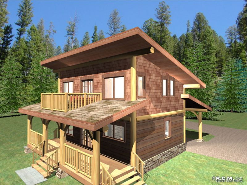 Davidson log homes amarok for Log homes under 1000 square feet