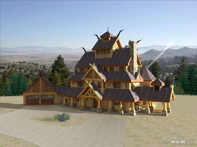 Davidson log homes the viking for Castle architecture design