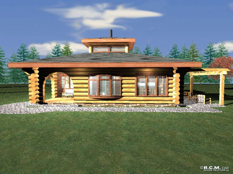 Davidson log homes log nest for Log homes under 1000 square feet