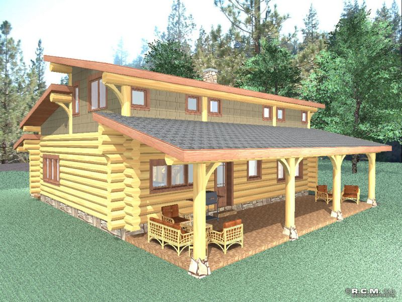 Davidson log homes lookout ridge for 2000 sq ft log home plans